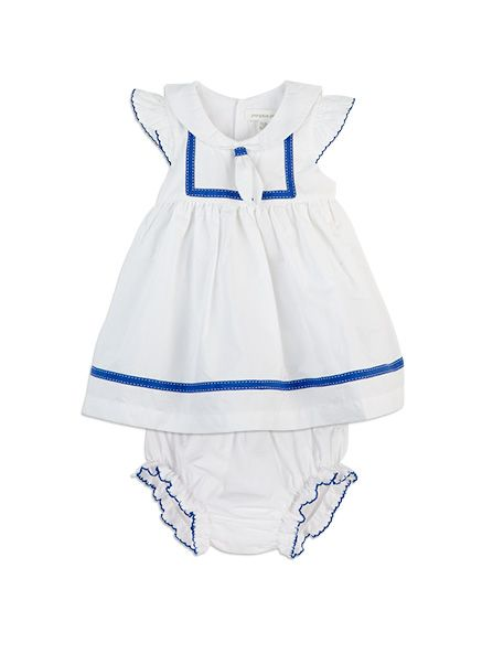 Pumpkin Patch -  - sailor dress and knickers - S5BG80002 - milk - 0-3m to 18-24m