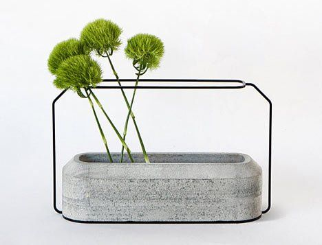 3bc34f3ecf86 Creative Unique Concrete Steel Vase Designs   integration concrete steel  vase. . creative vases designs inspirations,cute home accessory  ideas,integration ...