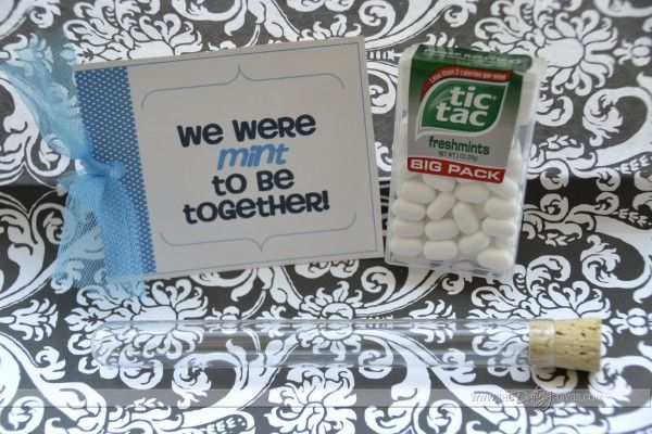 """We Were Mint To Be Together""  breath mints  - DIY Gift by The Dating Divas"