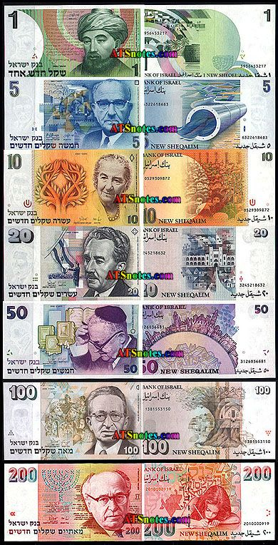 israel money currency | Israel banknotes - Israel paper money catalog and Israeli currency ...