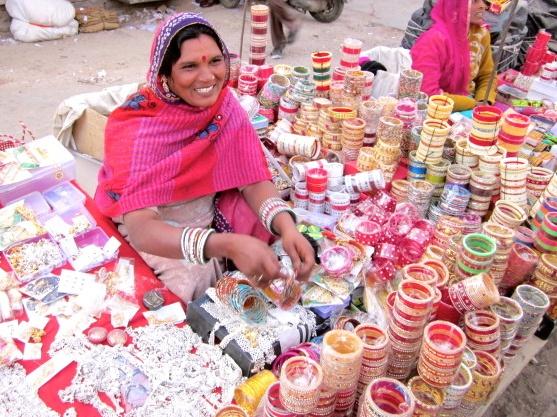 Woman selling bangles. Jodhpur.