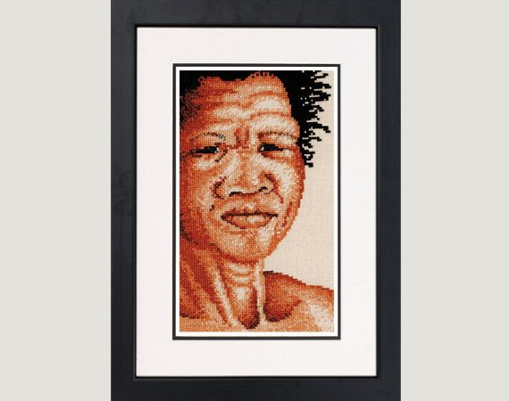 Bushman - A counted cross stitch design on Etsy, $8.00 AUD