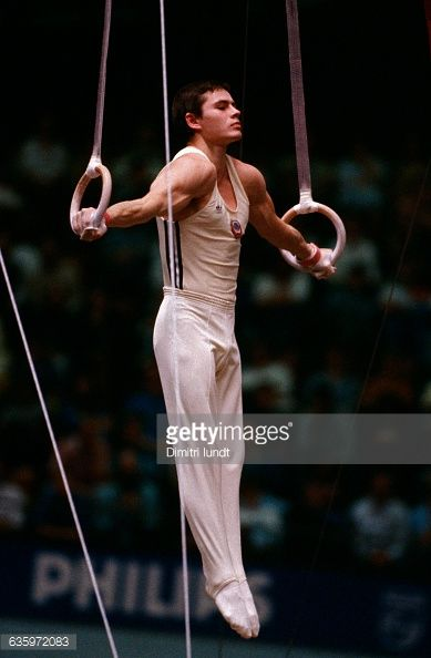 The Russian gymnast competing at the world championships.