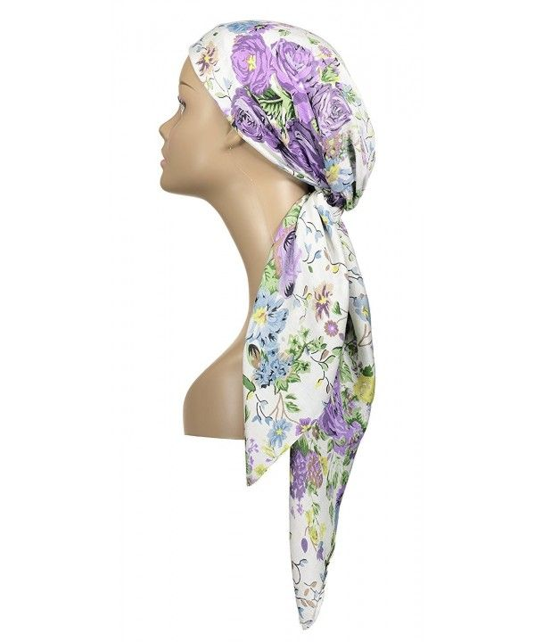 Large Head Wrap Scarf -Soft Lightweight Easy Tie Square Chemo Scarves -by Purple CL184RTXKAL   – Scarves & Wraps  Online Collection