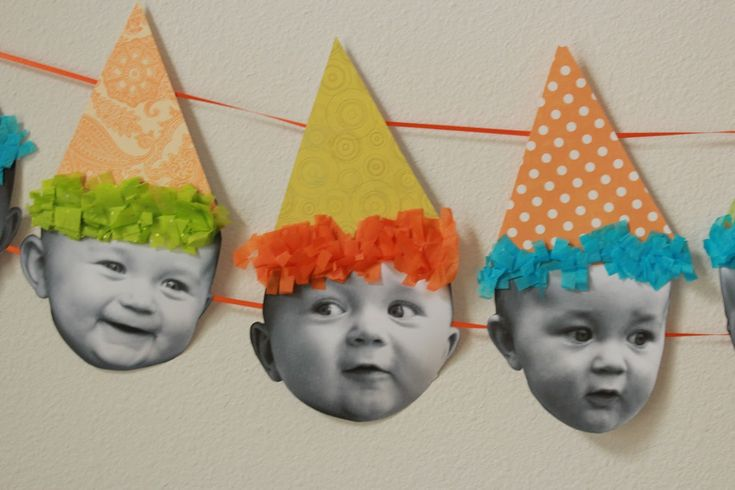 Birthday Banner {Tutorial} I think this would be a great idea to put pics at different ages for my daughters 30th bday party