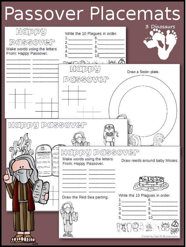 Free passover placemats sunday school ideas pinterest for Passover crafts for sunday school