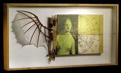 unknown: Bats Wings, Art Assemblages, Assemblages Art, Inspiration, Journals Assemblages, Artists Phil Parker, Boxes Assemblages, Batwing Skele