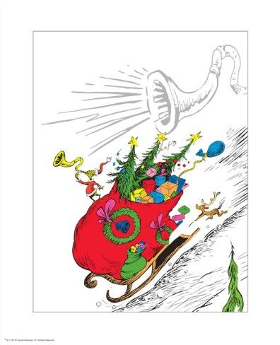 The Grinch's Heart Grew Three Sizes Poster by Theodor (Dr. Seuss) Geisel at AllPosters.com