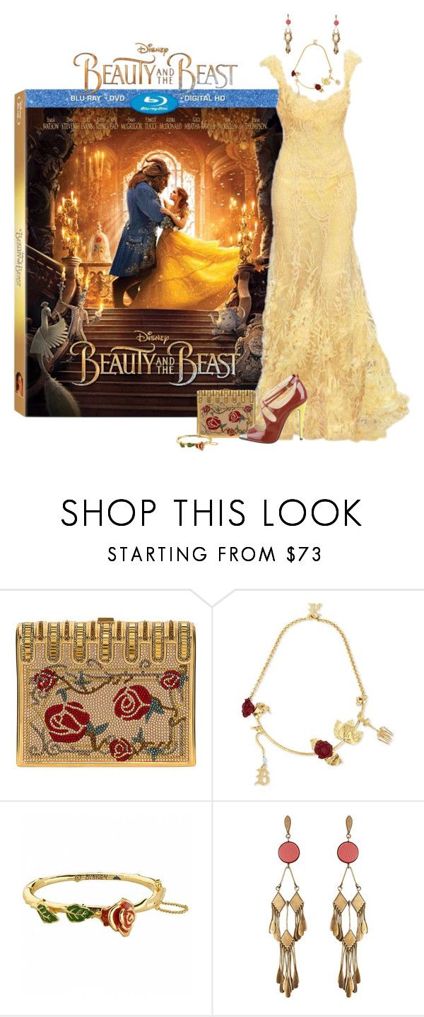 """Modern Belle"" by chileez ❤ liked on Polyvore featuring Disney, Judith Leiber, Christopher Kane, Etro, Brian Atwood, modern, BeautyandtheBeast and contestentry"