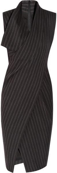 DKNY charcoal grey chalk stripe dress...love this for work.