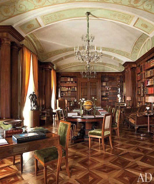 Decorative painting italian apartment