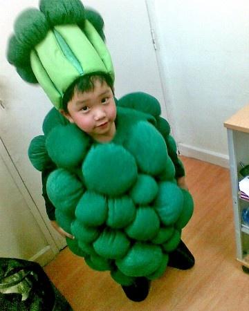 #Healthy Halloween Costume - Broccoli!