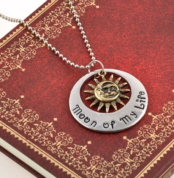 retro song of ice and fire game of thrones necklace pendant of sun and moon  #ne…
