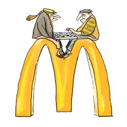 Em Nova York, com café barato, muitas mesas e banheiros disponíveis, o McDonald's é opção preferencial de gente pobre, da terceira idade, estudantes ou simplesmente solitários. No inverno bravo, o McDonald's substitui o banco do parque ou o bate-papo nas calçadas da vizinhança.