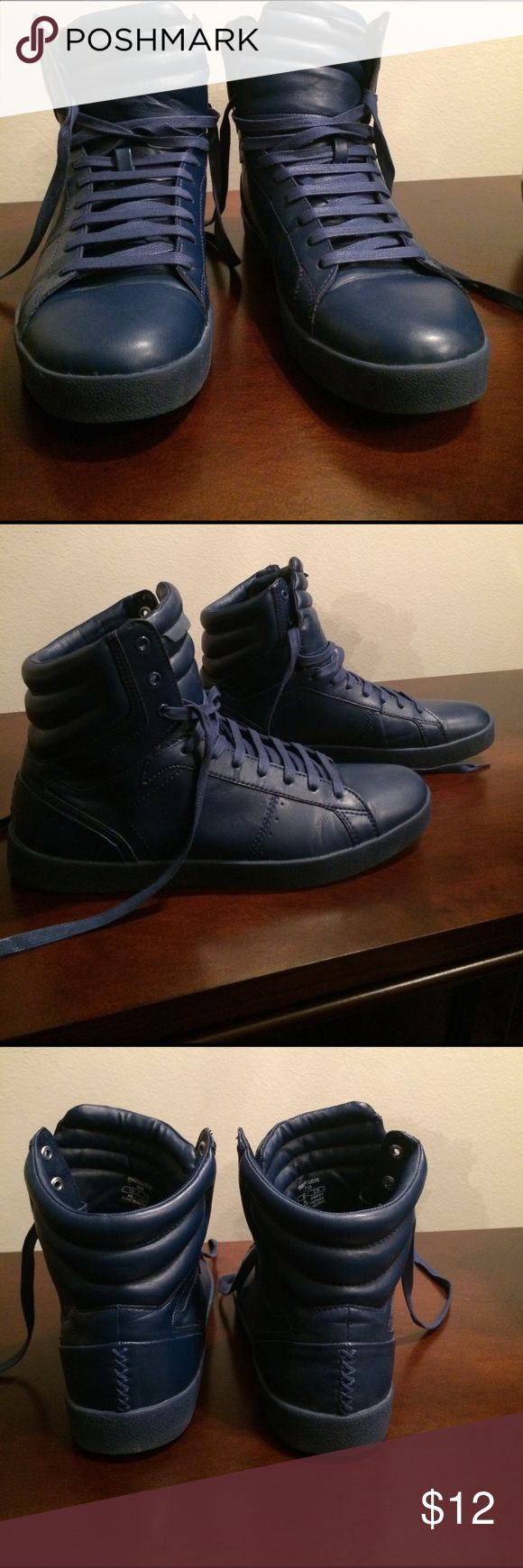 Blue Zara High top Shoes Blue Zara Man High Tops - Size 43 - Worn once Zara Shoes Sneakers