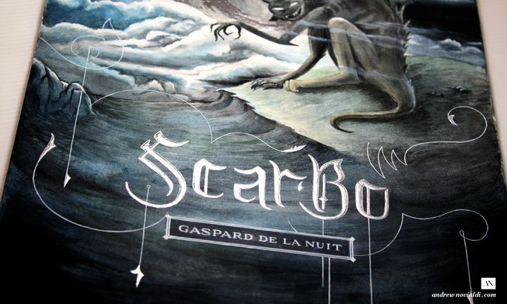 Gaspard de la Nuit Watercolor Illustration - Scarbo