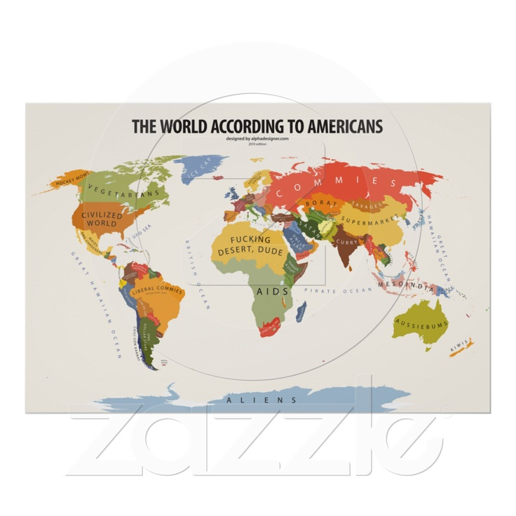 The World According to Americans ;-)