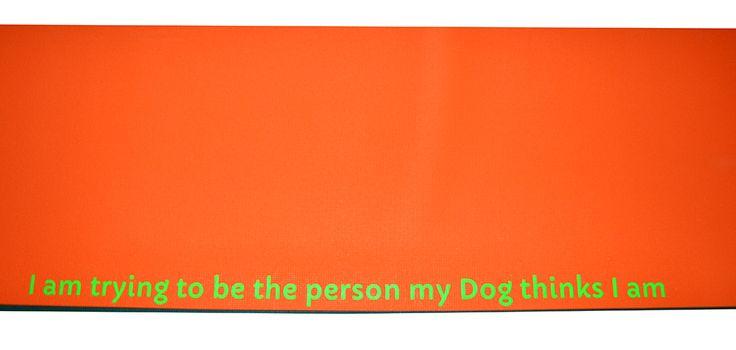 Mat Colour - Orange, Font Colour - Fluorescent Green, Layout - Horizontal Center Mid, Font - Capriola, Font Size - Medium