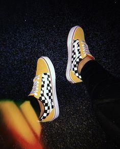 vans jaune a carreaux