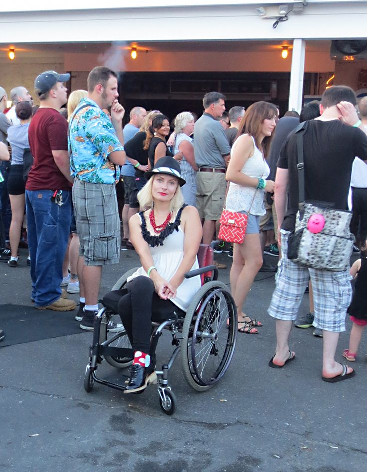#wheelchair #disabled #streetstyler at #thespecials at the Stone Pony in Asbury Park, NJ. #ska #rudegirl