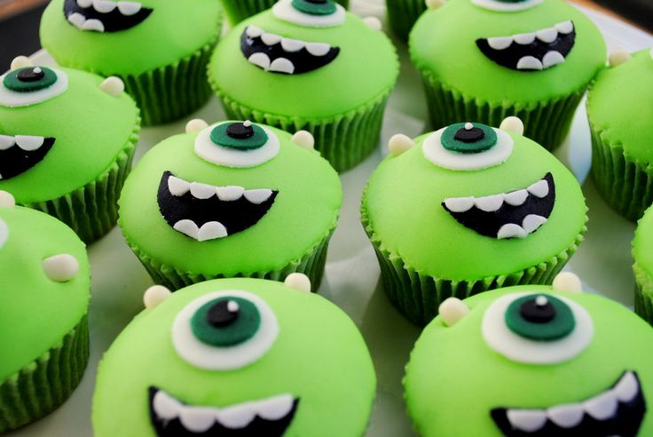Monster Inc University Cupcakes