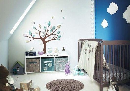 pokój niemowlaka chłopca dekoracja ścian
