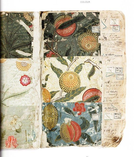 A page from the Masters sketchbook- William Morris textile designs