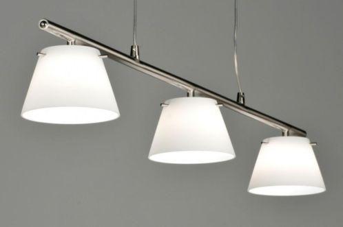 Prachtig afgewerkte hanglamp van Seed Design, 3 lichts, uitgevoerd in geschuurd staal.  Deze hanglamp van metaal is voorzien van een touchdimmer! Aan de zijkant van de stang zit een knopje, daarmee kunt u de lamp dimmen of aan/uitzetten .  Opaal glas . Voor eettafel , woonkeuken tafel .  Home interior lights / online shop : click on this link www.rietveldlicht.nl
