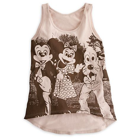 Mickey Mouse and Friends Tank Tee for Women - Disney Parks | Tees, Tops & Shirts | Disney Store
