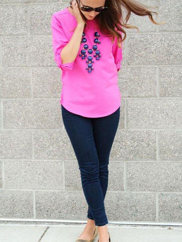 Fashion Fix: roze blouse