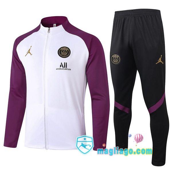 Nuova Giacca Da Allenamento Pairis PSG Jordan Bianco Porpora 20/21 ...