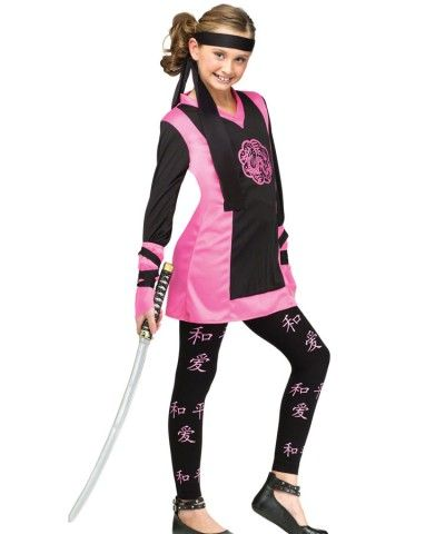 Kyra - for Halloween Pink Dragon Ninja Girls Costume | GIRLS