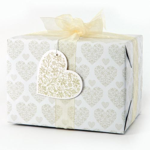 Love, love, love... Give the perfect gift with our Silver Heart giftwrap and tag.