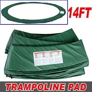 Green 14ft Trampoline Parts Accessory Round Trampoline Safety Frame Pad $52.00 #topseller