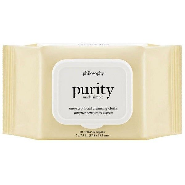 Philosophy Purity Made Simple Cleansing Towelettes (56 SAR) ❤ liked on Polyvore featuring beauty products, skincare, face care, face cleansers, philosophy face wash and philosophy facial cleanser