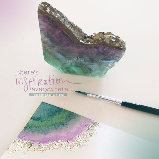 The Beauty Department: Your Daily Dose of Pretty. - NAILED IT! geode nails