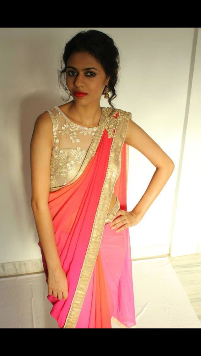 same shaded saree, but everyone gets different trim/work/blouse, to taste