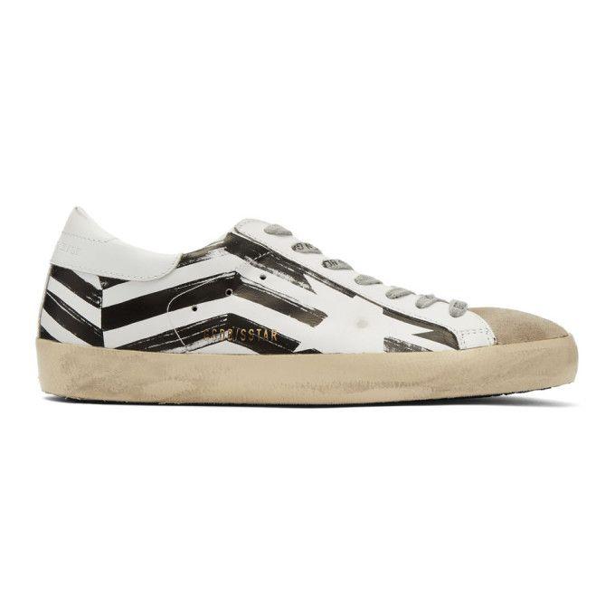 GOLDEN GOOSE White   Grey Flag Superstar Sneakers.  goldengoose  shoes   89bc30d99013
