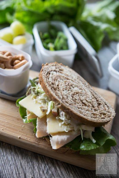 Just Like Panera Turkey, Apple, and Cheddar Sandwich | One of my favorite copycat Panera Bread recipes! I love eating this sandwich recipe for lunch.