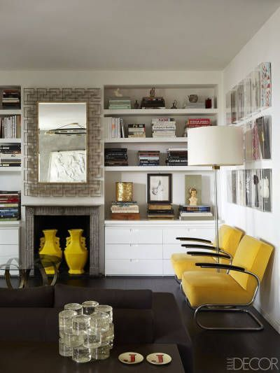 A fun way to add color an otherwise neutral room.