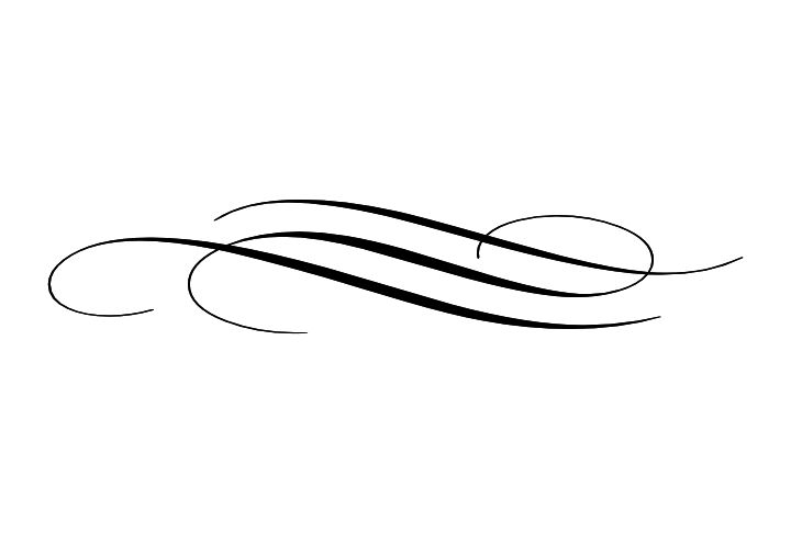 Simple Decorative Line Art : Flourish line divider simple flourishes