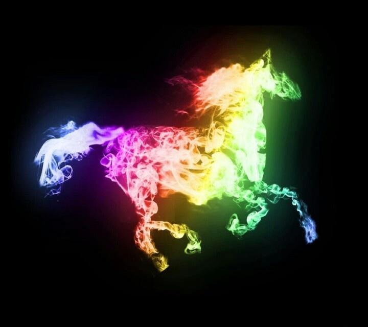 Neon horse   LOVES.....   Pinterest