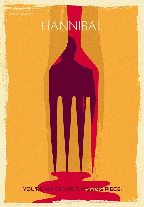 """Hannibal Fork"" Hannibal (Season 2) -Artwork by Romel Jhan Biescas (Kolorgasm)"