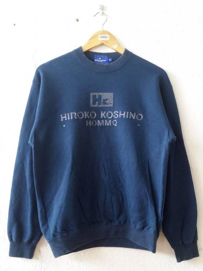 Japanese Brand HIROKO KHOSHINO HOMME Spellout Big Logo Embroider Sweatshirt
