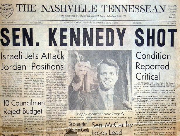newspaper articles on the death of jfk