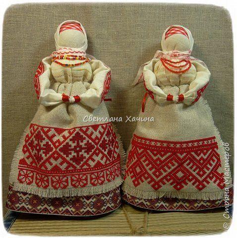 Куклы Вышивка Моделирование конструирование Бабы ягодки Канва Материал природный Ткань фото 1