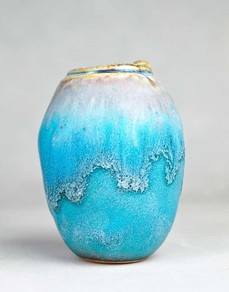 """STUDIO POTTERY 'OIL URN' FORM HAND-BUILT MINIATURE STONEWARE VESSEL, 2017  (Free Shipping to the Lower 48 States Only)    This is a hand-built Studio Pottery piece in OIL URN form. This fabulous stoneware pot was made by California ceramicist and watercolorist David R. Farnsworth. This is yet another one of the unique one-of-a-kind pieces from his current series of hand built miniature and small pottery cabinet vessels. This small stoneware 'oil urn' measures 3.25"""" high and 2.5"""" at it's…"""