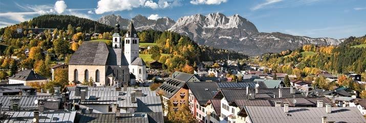 The beautiful town of Kitzbuhel