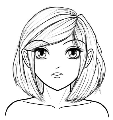 How to Draw Manga Faces Step by Step for a Beginner | How ...  How to Draw Man...