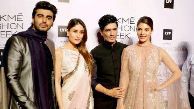 #LFW2016: #ArjunKapoor, #Kareena And #JacquelineFernandez Stun At #ManishMalhotra Show/